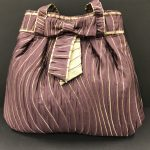 Purple/Gold Tied Bow Bag