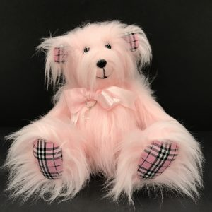 Large Pink Faux Fur Teddy Bear