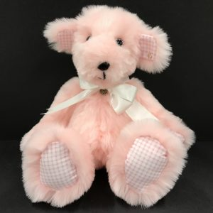 Large Baby Pink Plush Faux Fur Teddy Bear