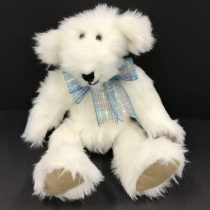 Small White Faux Fur Teddy Bear